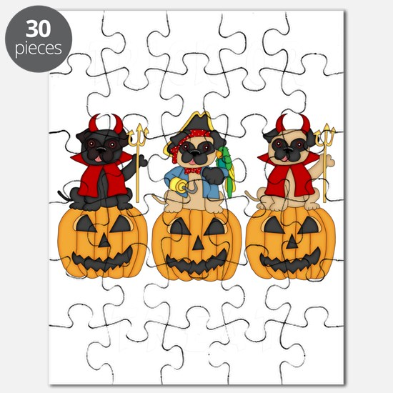Halloween Trick or Treat Pugs Puzzle