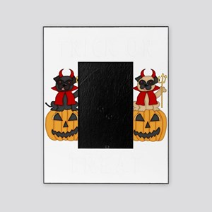 Halloween Trick or Treat Pugs Picture Frame