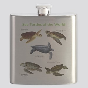 Sea Turtles of the World Flask