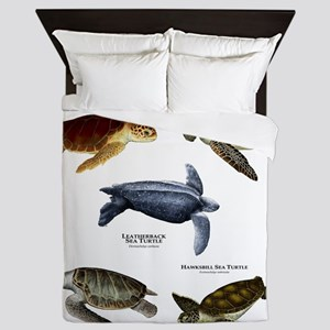 Sea Turtles of the World Queen Duvet