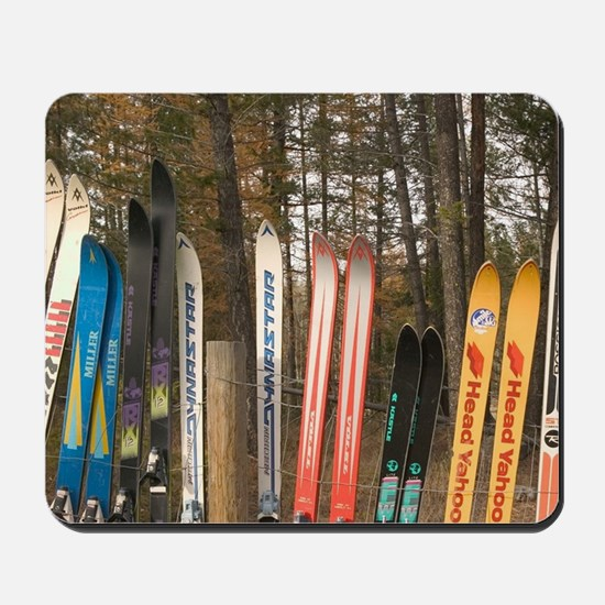 Kimberly. Snow Fence made from Old Skis. Mousepad