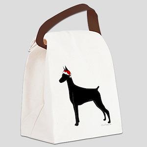Santa Doby Canvas Lunch Bag