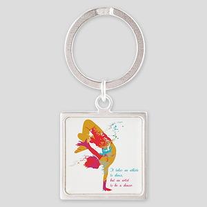 dancerArtist Square Keychain