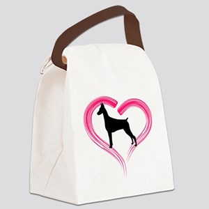 DobermanLove Canvas Lunch Bag