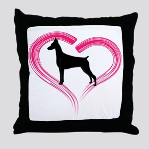 DobermanLove Throw Pillow