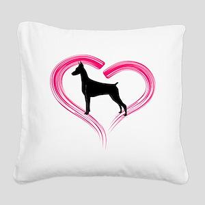 DobermanLove Square Canvas Pillow