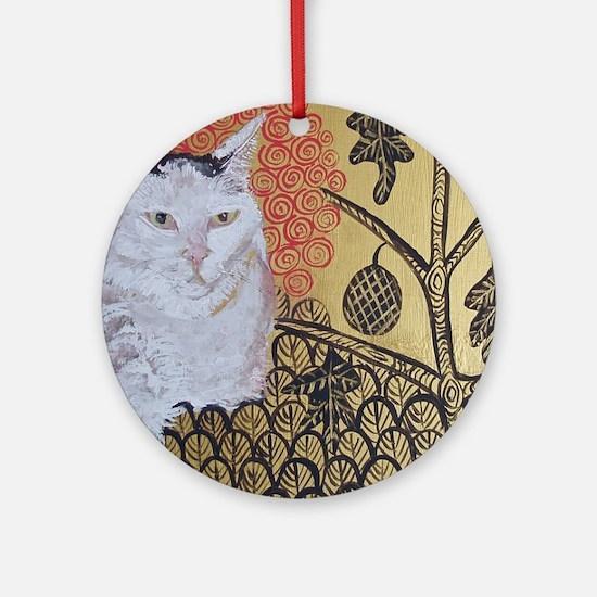 Mouse KlimptCat Round Ornament