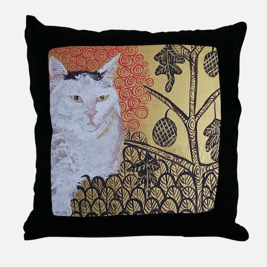 Mouse KlimptCat Throw Pillow