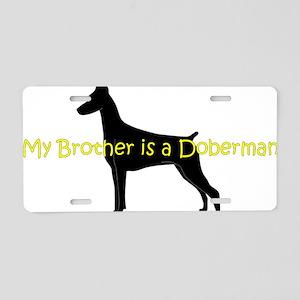 DobermanBrother Aluminum License Plate