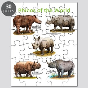 Rhinos of the World Puzzle