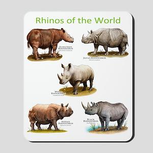Rhinos of the World Mousepad