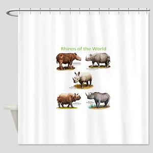 Rhinos of the World Shower Curtain