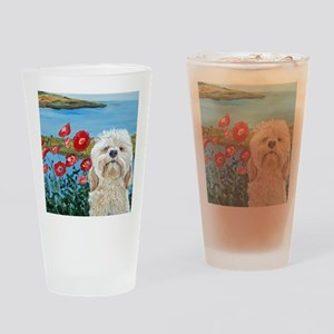 MouseLite Labradoodle Drinking Glass