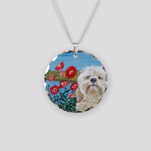 MouseLite Labradoodle Necklace Circle Charm