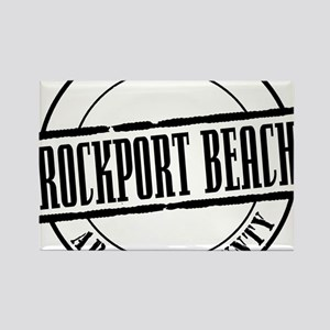 Rockport Beach Title W Rectangle Magnet