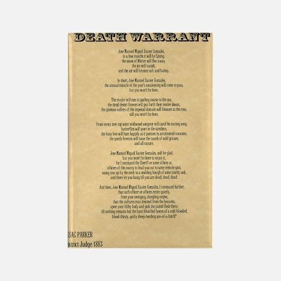 warrant Rectangle Magnet