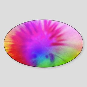 Pink Swirl Toiletry Sticker (Oval)