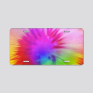 Pink Swirl Toiletry Aluminum License Plate