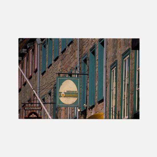 Canada, Quebec, Quebec City, old  Rectangle Magnet