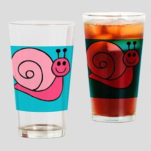 Pink Snail Beach Drinking Glass