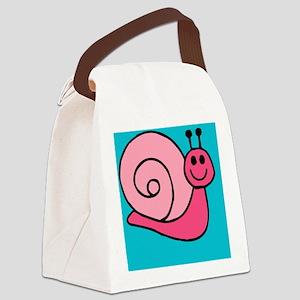Pink Snail Beach Canvas Lunch Bag