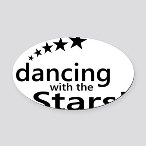 dancing with the stars Oval Car Magnet