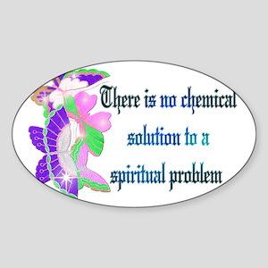 Spiritual Problem Sticker (Oval)
