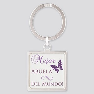 Butterfly_grandma Square Keychain