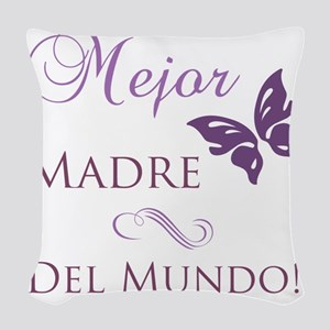 Butterfly_mother Woven Throw Pillow