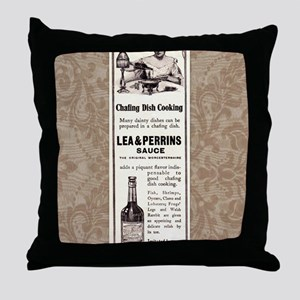 Lea and Perrins Sauce Throw Pillow
