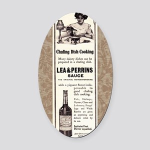 Lea and Perrins Sauce Oval Car Magnet