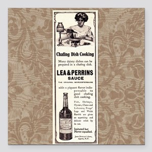 """Lea and  Perrins Sauce Square Car Magnet 3"""" x 3"""""""
