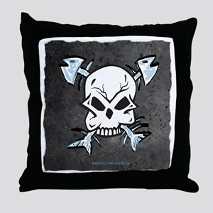 skullfishbones Throw Pillow