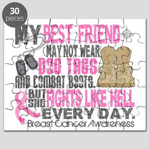- DogTags Breast Cancer Best Friend Puzzle