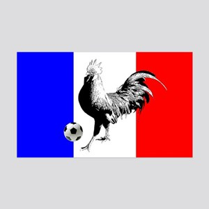 French Football Flag 35x21 Wall Decal