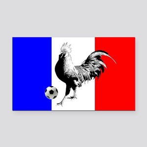 French Football Flag Rectangle Car Magnet