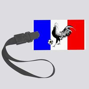 French Football Flag Large Luggage Tag