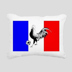 French Football Flag Rectangular Canvas Pillow