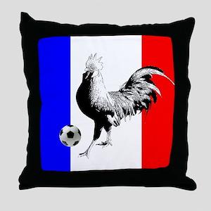 French Football Flag Throw Pillow