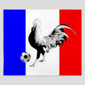 French Football Flag King Duvet