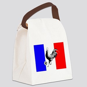 French Football Flag Canvas Lunch Bag