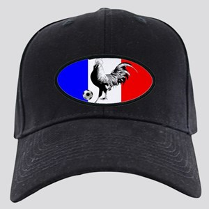 French Football Flag Black Cap