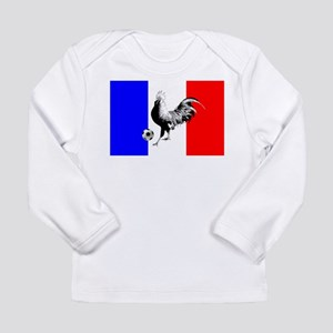 French Football Flag Long Sleeve Infant T-Shirt