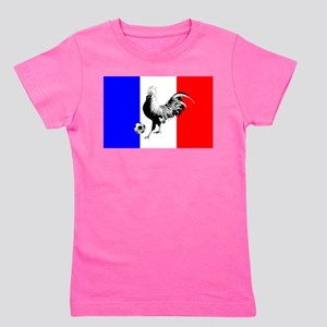French Football Flag Girl's Tee