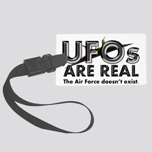 ufos-real-bow Large Luggage Tag