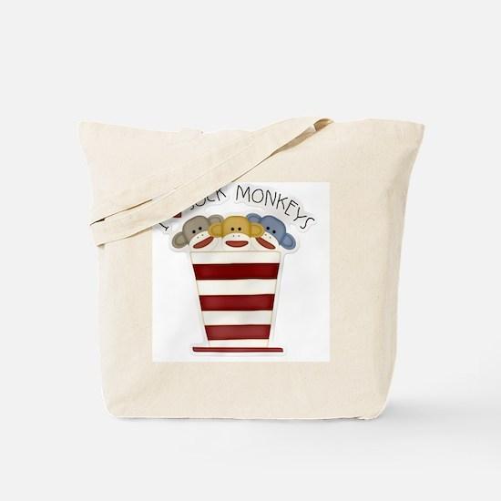 I love sock monkeys-001 Tote Bag