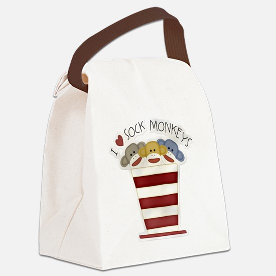 I love sock monkeys-001 Canvas Lunch Bag