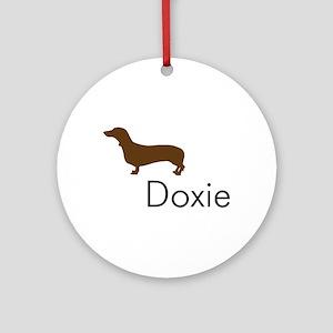 Doxie Dachshund Dog Ornament (Round)