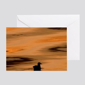 Inside Passage. Silhouette of seagul Greeting Card