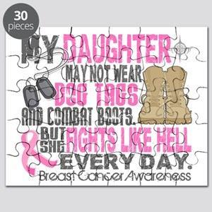 - DogTags Breast Cancer Daughter Puzzle